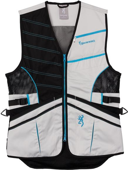 Picture of Browning Outdoor Clothing, Shooting Vests - Ace Shooting Vest for Her, Teal, Extra Small