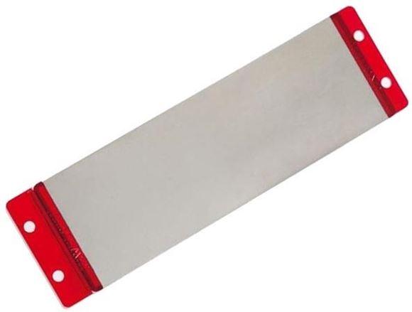 "Picture of Buck Sharpeners - EdgeTek Bench Stone (Medium), 100% Diamond Coated Surface, 750 Medium Grit Single Side, Red, 6"" x 2"", Clam"