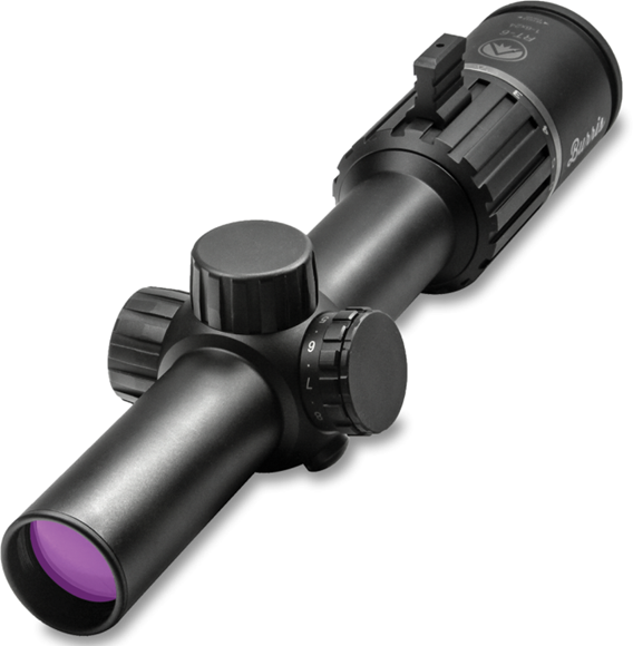 Picture of Burris Riflescopes, RT-6 Riflescopes - 1-6x24mm, 30mm, Matte, Illuminated Ballistic AR x5, 1/2 MOA Click Value, CR2032, True 1x