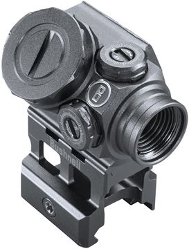 Picture of Bushnell Tactical Optics, Lil P Prism Sight - 1x11mm, Matte, Illuminated Prism Reticle, Adjustable Brightness, 1 MOA Click Value, Multi-Coated, Waterproof/Fogproof/Shockproof, CR2032