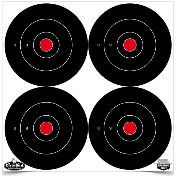 "Picture of Birchwood Casey Targets, Dirty Bird Targets - Dirty Bird 6"" Birchwood Casey Targets, Dirty Bird Targets - Dirty Bird 6"" 48 Bull's-Eye Target, 12 Targets"