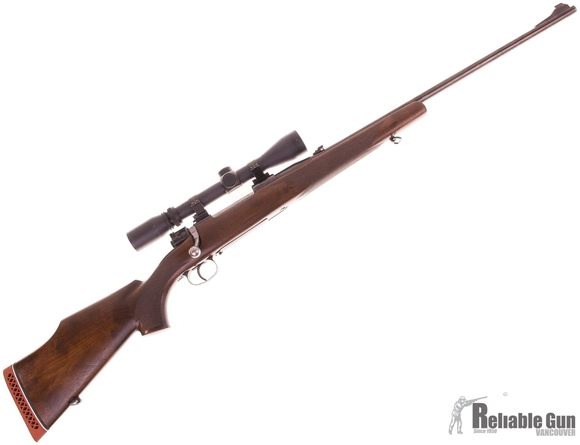 Picture of Used Mauser Custom 30-06, 24'' Barrel w/Sights, Walnut Stock Cracked At Tang, Low Pro Safety, Burris 3-9x40 Scope, Good Condition