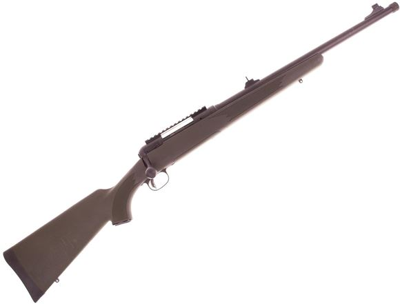 "Picture of Used Savage Model 11 Hog Hunter Bolt Action Rifle - 308win, 20"" Threaded Barrel, Iron Sights, Green Stock, AccuTrigger, Original Box, Very Good Condition"