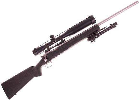 "Picture of Used Remington Model 700 5-R Milspec Bolt Action Rifle - 308 Win, 24"", Stainless Milspec 5-R Barrel, 1:11.2"", HS-Precision Composite Stock, Jewell Trigger, Nightforce 20 MOA Rail, Nightfroce Steel Rings, Bushnell Elite 6500 4.5-30x50 Mil Dot Scope, Harri"
