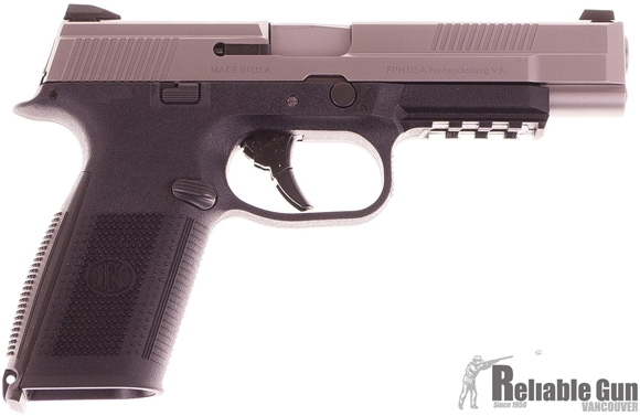 Picture of Used FNS-40 Long Slide Two-Tone Semi Auto Pistol, 40 S&W, Stainless Slide, 3 Mags, Original Case, Excellent Condition