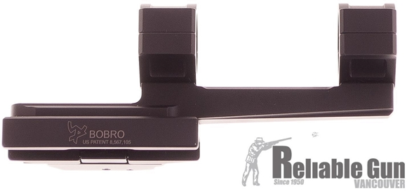 Picture of Used Bobro Engineering Scope Mount, Single Lever Extended, 1'' Rings, Quick release, Black, Excellent Condition