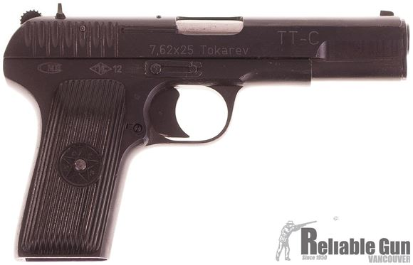 Picture of Used Tokarev TT-33 Semi-Auto 7.62x25 Semi Auto Pistol - 1942 Izhevsk, w/ UN Export Markings, 2 Mags & Locking Hard Case, (Inc. x1 Snap Cap, x1 Cleaning Rod, Trigger Lock, Good Condition
