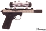 Picture of Used Ruger Mark III 22/45 Lite Semi-Auto 22 LR, With Millett red Dot Sight, Majestic Arms Charging Handle & Troy Muzzle Brake, 6 Mags, Very Good Condition