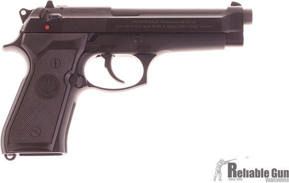Picture of Used Beretta 92FS Semi Auto Pistol, 9mm Luger, Black, 3 Dot Sight, 2 Magazines, Original Box, Excellent Condition