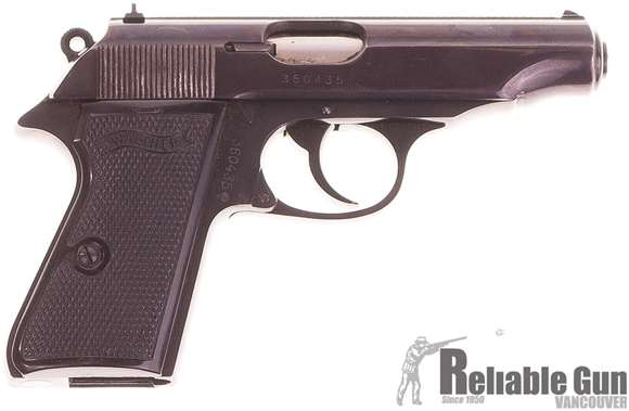 Picture of Used Walther PP Semi Auto 32 ACP Pistol, 3.75'' Barrel (12.6 Prohib) With case and 2 Mags, Excellent Condition