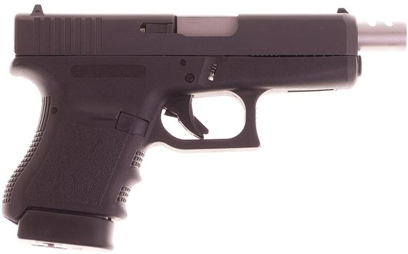 Picture of Used Glock 36 Subcompact Safe Action Semi-Auto Pistol - 45 Acp , Canadian Legal 107mm Ported Barrel, Black, 2x6rds, Fixed Sight, Original Box, Very Good Condition