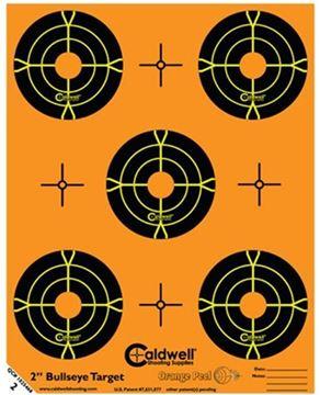 "Picture of Caldwell Shooting Supplies Paper Targets - Orange Peel, 5x 2"" Bullseye, 10 sheet Pack"