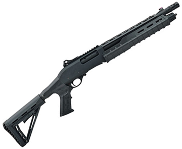 "Picture of Canuck Commander Pump Action Shotgun - 12ga, 3"", 14"", Black Synthetic Adjustable Pistol Grip Stock, Fiber Optic Front Sight, Optic Rail, Heat Sheild, Mobil Choke Flush (C,M,F) + Breacher Choke"