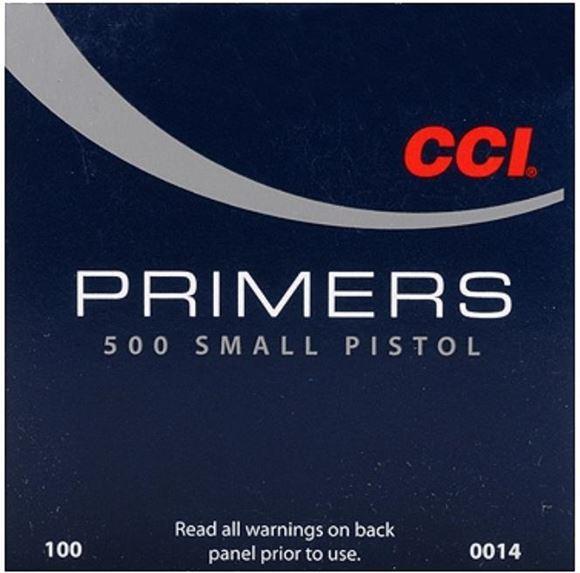Picture of CCI Primers, Standard Pistol Primers - No. 500, Small Pistol Primers, 1000ct Brick