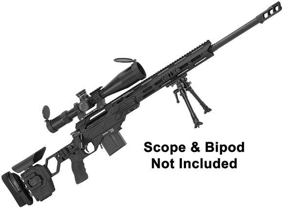 "Picture of Cadex Defense CDX-33 Patriot Rifle - 338 Lapua, 27"", 1-11.25"" Twist, Black, DX2 Double Stage Trigger, 5rds, 20MOA Rail, MX1 Muzzle Brake, Skeleton Buttstock"