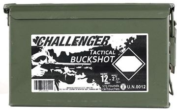 "Picture of Challenger Tactical Buckshot - 12ga, 2-3/4"", 00 Buck, 1-1/4oz, 175rds Ammo Can"