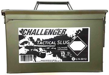 "Picture of Challenger Tactical Target Slug Shotgun Ammo - 12ga, 2-3/4"", Slug, 1oz, Low Recoil, 175rds Ammo Can"