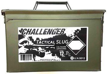 "Picture of Challenger Tactical Target Slug Shotgun Ammo - 12ga, 2-3/4"", Slug, 1oz, Low Recoil, 175rds Ammo Can"