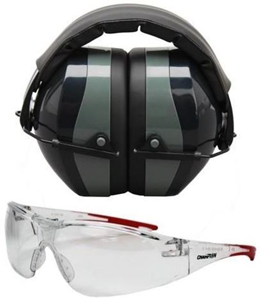 Picture of Champion Ears, Combos - Eyes & Ears Combo, Passive, Black, Ballistic, NRR 26dB