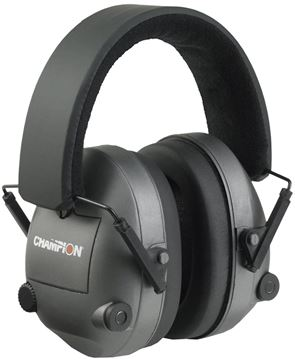 Picture of Champion Ears, Muffs - Electronic Earmuffs, 27db NRR, Adjustable, Black