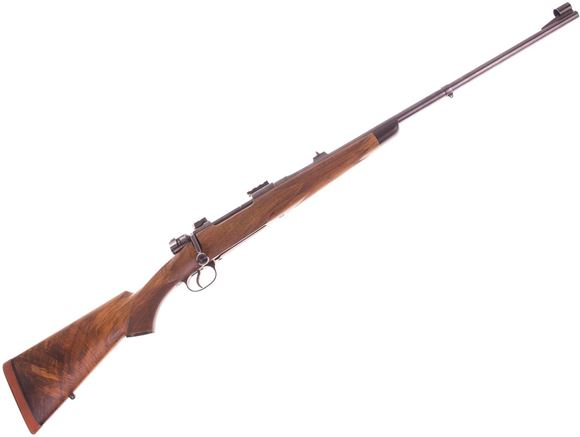 Picture of Used Custom Mauser 9.3x62 Bolt Action, Husqvarna Action, 24'' Barrel w/Sights, Custom Bolt Handle, Low Pro Timney Safety, High Grade Sporter Stock,  Good Condition