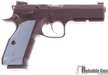 Picture of CZ Shadow 2 Optic Ready Black/Blue Semi Auto DA/SA Pistol - 9mm Luger, 120mm Barrel, Adjustable Sights, 3x10rds, Black w/ Blue Grips
