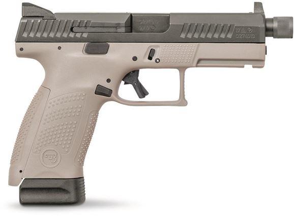 "Picture of CZ P-10 C Semi-Auto Pistol - 9mm, 4.51"", Supressor Height Tritium Sights, 2x10rds, Interchangeable Backstraps, Ambidextrous Controls, Urban Grey Frame"