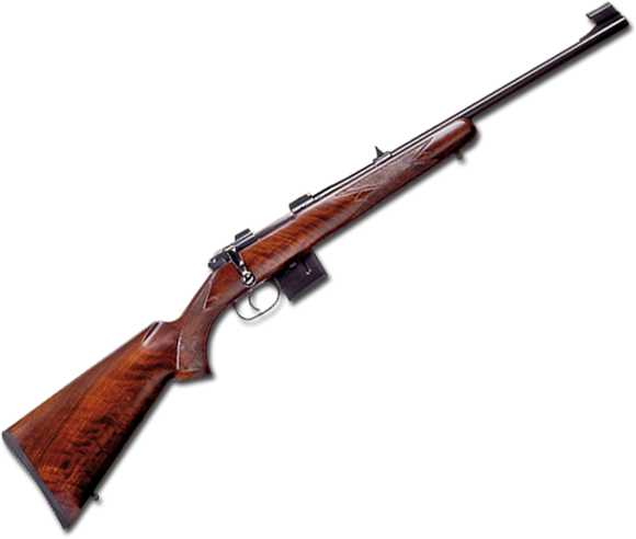 "Picture of CZ 527 Carbine Bolt Action Rifle - 7.62x39mm, 18.5"", Hammer Forged, Blued, Lacquered Finished Straight Line Comb Carbine Walnut Stock, 5rds, Adjustable Single Set Trigger, Fixed Sights"