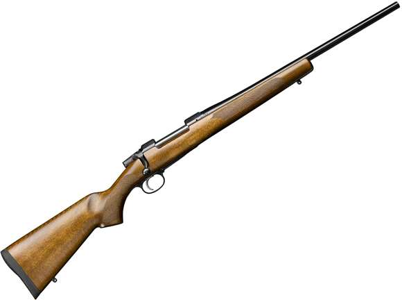 "Picture of CZ 557 Sporter Bolt Action Rifle - 308 Win, 20.5"", Straight Line Comb Beech Stock, No Sights, Adjustable Trigger *Non-Standard Production, Special Run*"