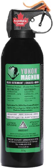 Picture of Defense Aerosols Bear Deterrent Pepper Spray - Yukon Magnum Bear Deterrent, 225g, 1%