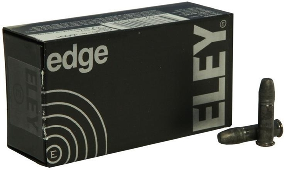 Picture of ELEY Rimfire Ammo - Edge, 22 LR, 40Gr, Black Oxidized Flat Nose, 50rds Box