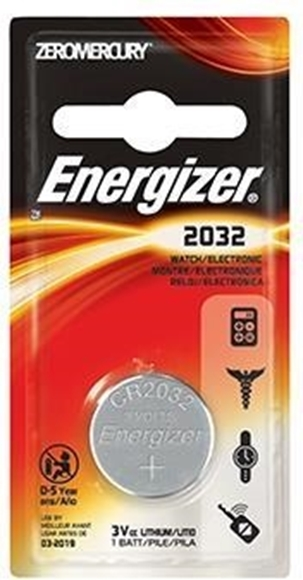 Picture of Energizer Batteries, Speciality Batteries, Coin Lithium Batteries - Energizer Coin Lithium 2032 Battery, 3V