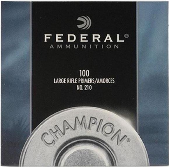 Picture of Federal Components, Champion Centerfire Primers - #210, Large Rifle Primers, 100ct Pack