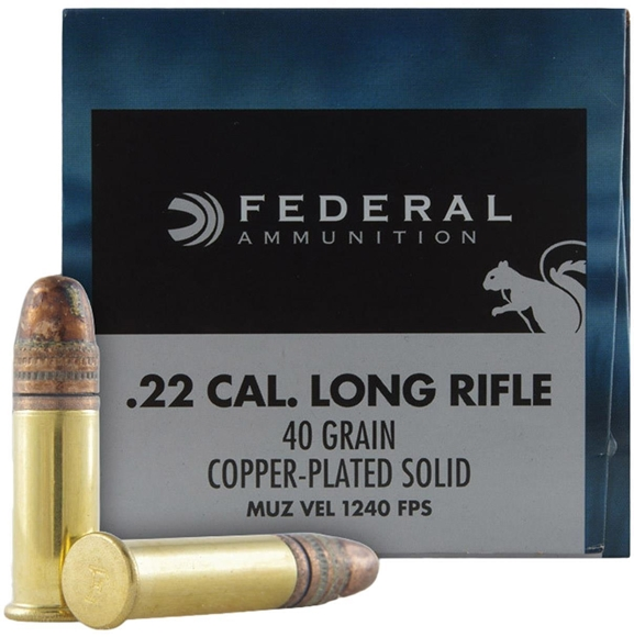 Picture of Federal Game-Shok Rimfire Ammo - 22 LR, 40Gr, Copper Plated Solid, 5000rd Case, 1240fps