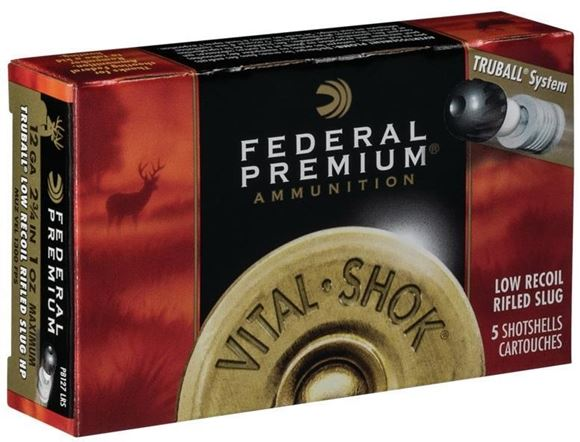 "Picture of Federal Premium Vital-Shok TruBall Rifled Slug Load Shotgun Ammo - 12Ga, 2-3/4"", 1oz, TruBall Rifled Slug, 50rds Brick, 1300fps"