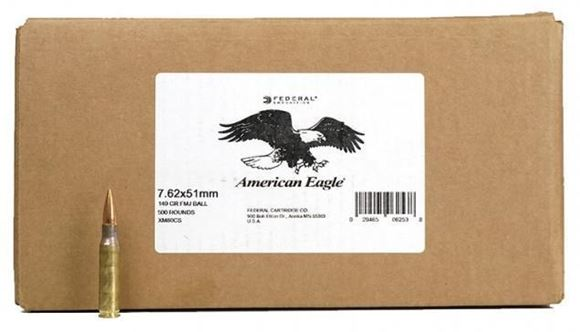 Picture of Federal, American Eagle Rifle Ammo - 7.62x51mm NATO, 149Gr, Full Metal Jacket (M80l), 500rds Loose Case