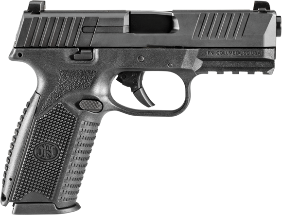 "Picture of FN Herstal (FNH) 509 Semi Auto Pistol - 9mm, 4.25"", Matte Black, Black Polymer Frame, 2x10rds, Fully-Ambidextrous Slide Stop Levers & Magazine Release"