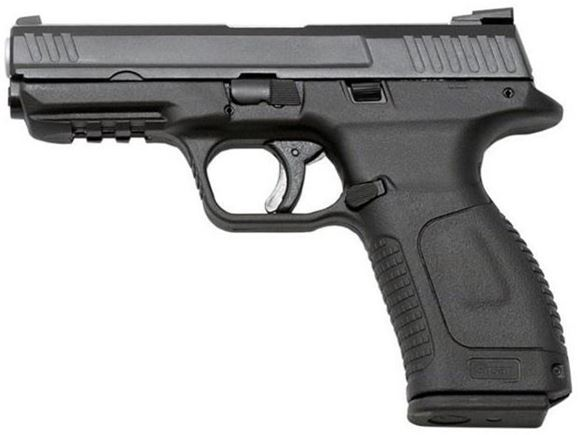 "Picture of Girsan MC 28 SA Semi-Auto Pistol - 9mm, 4.2"", Striker-Fired, Black Polymer Frame, x2 Grip Backstraps, Picatinny Rail, White Dot Sights, 2x10rds, Mag Loader"