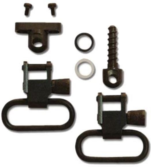 "Picture of GrovTec GT Swivels, GT Barrel Band Sets - Side By Side Double Barrel Swivel Set, 1"" Loops, Black-Oxide Finish"