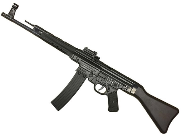 "Picture of German Sport Guns (GSG) GSG-STG 44 Rimfire Semi-Auto Rifle - 22 LR, 17.2"", Blued, Black Wood Stock & Grip Panels, 25rds, Fixd Front Post & Adjustable Rear Sights"