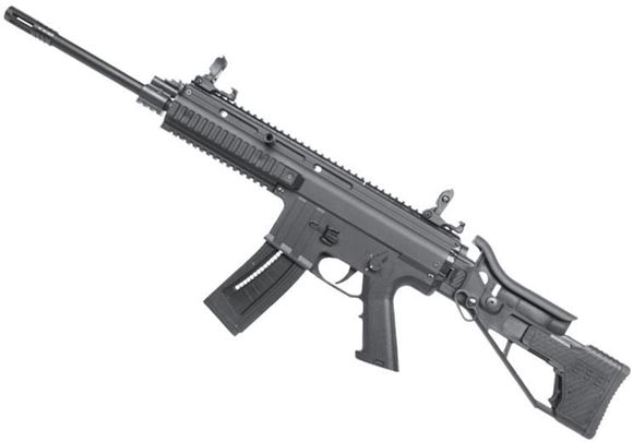 "Picture of German Sport Guns (GSG) GSG-15 Rimfire Semi-Auto Rifle - 22 LR, 16.5"", Blued, High Precision Barrel, 6 Grooves, Retractable / Adjustable Sights, Black"