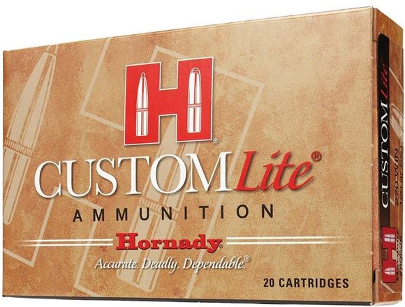 Picture of Hornady Custom Lite Rifle Ammo - 7mm Rem Mag, 139Gr, SST Custom Lite, Reduced Recoil, 20rds Box