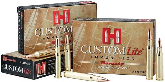 Picture of Hornady Custom Lite Rifle Ammo - 300 Win Mag, 150Gr, SST Reduced Recoil, 20rds Box