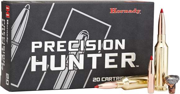Picture of Hornady Precision Hunter Rifle Ammo - 280 Ackley Improved, 162 Grain, ELD-X, 20rds Box