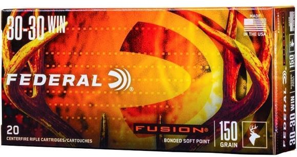 Picture of Federal Fusion Rifle Ammo - 30-30 Win, 150Gr, Fusion, 20rds Box