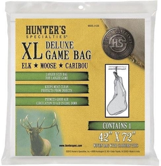 """Picture of Hunters Specialties Game Bags - Extra Large Game Bag, 42""""x72"""", Woven Bag w/ Closure Tie"""