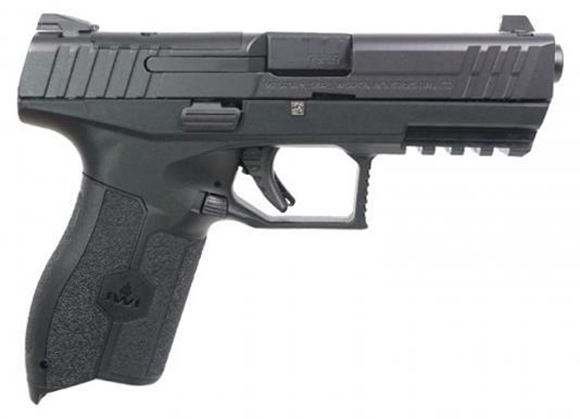 "Picture of IWI Masada 9 Optic Ready SA Semi-Auto Pistol - 9mm, Cold Hammer Forged Barrel, 4.25"", 1:10 RH, Black Polymer, Steel Slide, Optic Ready, 2x10rds, Inc. Backstraps"