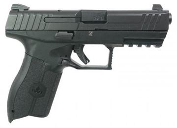 "Picture of IWI Masada 9 SA Striker Fire Semi-Auto Pistol - 9mm, Cold Hammer Forged Barrel, 4.25"", 1:10 RH, Black Polymer, Steel Slide, Fixed 3-Dot Sight, 2x10rds, Inc. Backstraps"