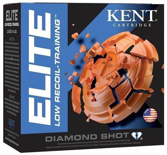 """Picture of Kent Elite Low Recoil Training Target Shotgun Ammo - 12Ga, 2-1/2"""", 3/4oz, #8, 25rds Box, 1200fps"""