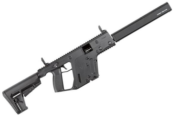 "Picture of KRISS Vector Gen II CRB Enhanced Semi-Auto Carbine - 9mm, 18.6"", w/Square Enhanced Black Shroud, Black, M4 Stock Adaptor w/Defiance M4 Stock, 10rds, Flip Up Front & Rear Sights"